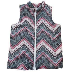 One Step Up Girls Boho Aztec Western Puffer Vest